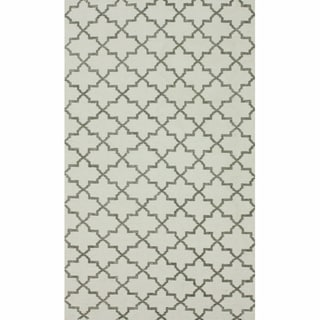 nuLOOM Handmade Flatweave Marrakesh Trellis Natural Cotton Rug (5' x 8')