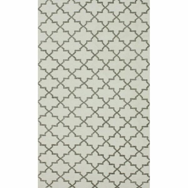 nuLOOM Handmade Flatweave Marrakesh Trellis Natural Cotton Rug (5' x 8')