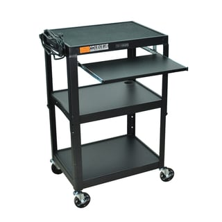 Offex 42-inch Adjustable Height Steel Computer Cart