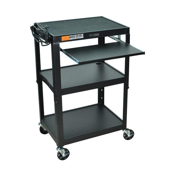 Offex 42-inch Adjustable Height Steel Computer Cart
