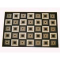 Generations Chocolate Abstract Squares Rug (5'2 x 7'2)