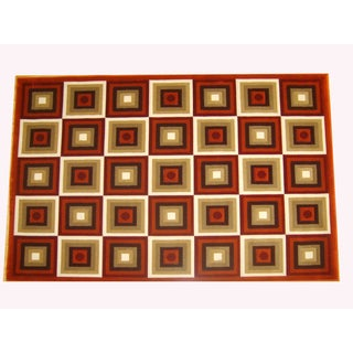 Generations Rust Abstract Squares Rug (3'9 x 5'1)