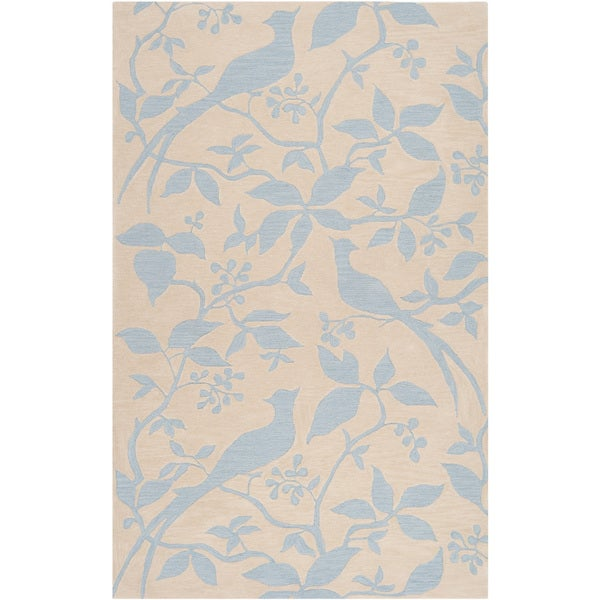 Hand-tufted Vaterloo Winter Sky Blue Rug (5' x 7'6)