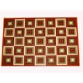 Generations Rust Abstract Squares Rug (5'2 x 7'2)