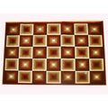 Generations Red Abstract Squares Rug (3'9 x 5'1)