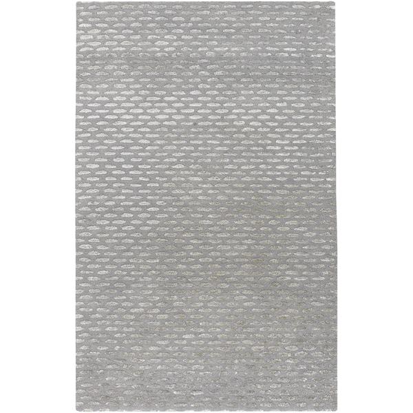 Hand-tufted Solid Grey Rally Wool Rug (9' x 13')