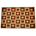 Generations Red Abstract Squares Rug (5'2 x 7'2)