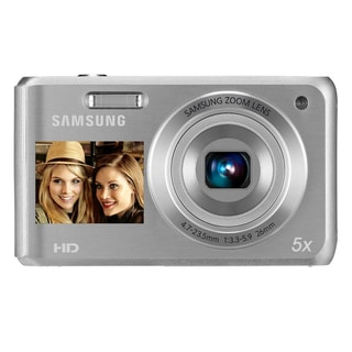 Samsung DV101F 16.1MP Dual-View Silver Digital Camera