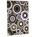 Generations Black Abstract Circles Rug (5'2 x 7'2)