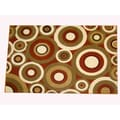 Generations Rust Abstract Circles Rug (5'2 x 7'2)
