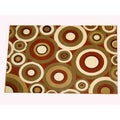Generations Rust Abstract Circles Rug (7'9 x 10'5)