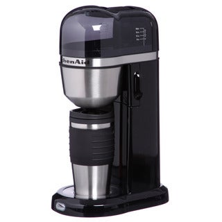 KitchenAid KCM0402OB Onyx Black Personal Coffee Maker w/ Mug
