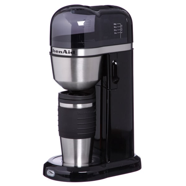 KitchenAid KCM0402OB Onyx Black Personal Coffee Maker w/ Mug 10479973