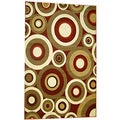 Generations Red Abstract Circles Rug (7'9 x 10'5)