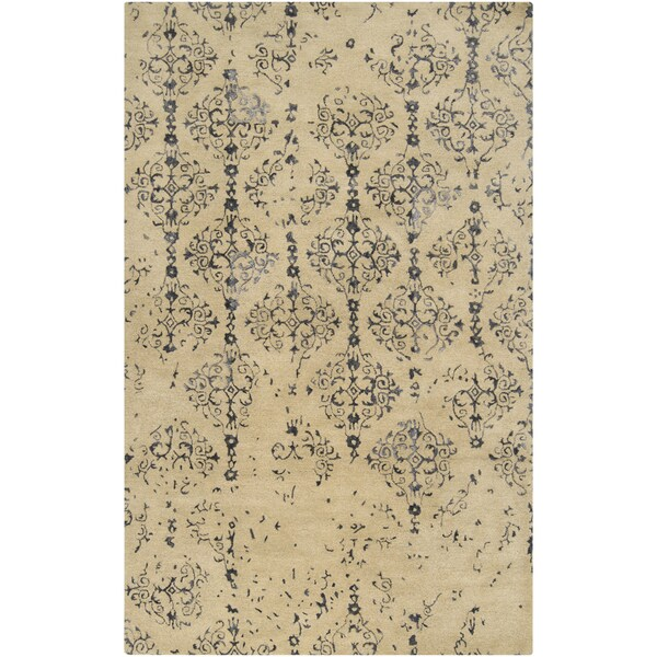 Hand-tufted Regency Barley Vintage Damask Wool Rug (8' x 11')