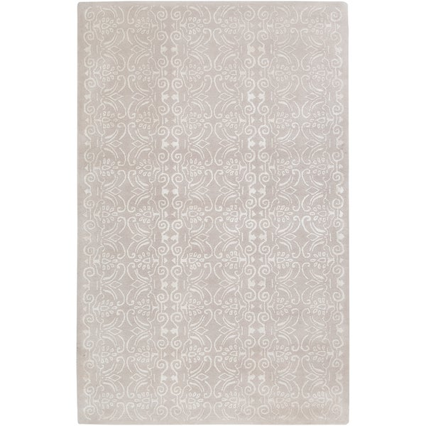 Hand-tufted Casual Ivory/White Floral Avenger Wool Rug (2' x 3')