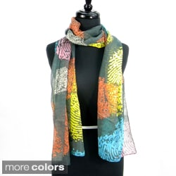 Fashion Spring Finger Print Scarf