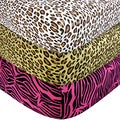 Trend Lab Animal Print Flannel Crib Sheet Set (Pack of 3)