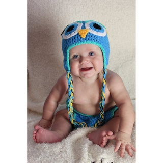 Sugarbaby Wear Whoo Whoo Crochet Beanie and Diaper Set
