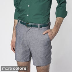 American Apparel Men's Chambray Welt-pocket Shorts