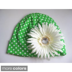Bobitty Boo Whitney Cotton Knit Hat with Spiky Daisy