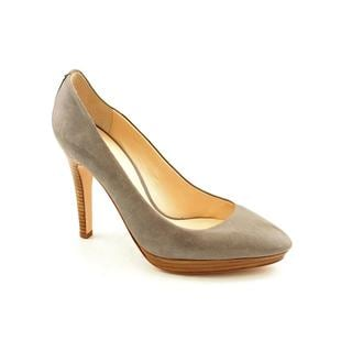 Coach Women's 'Chelsie' Distressed Grey Leather Dress Heels