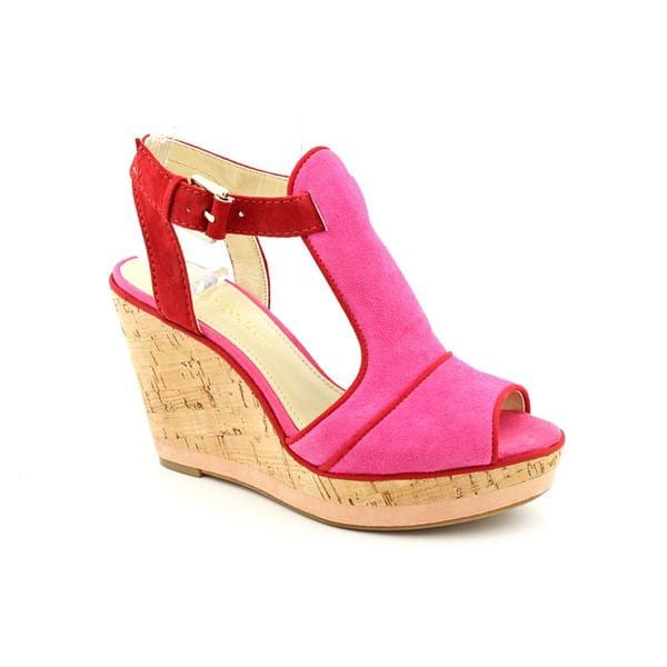 Enzo Angiolini Women's 'Gesso' Pink Regular Suede Sandals