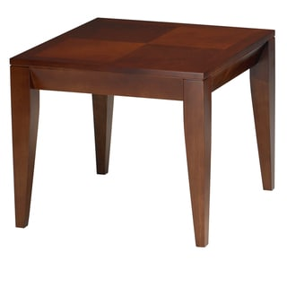 Mayline Cherrywood Ebony Inlay Diamond Veneer End Table