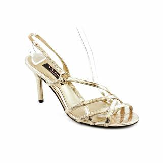 Nina Women's 'Gordana' Gold Satin Dress Shoes