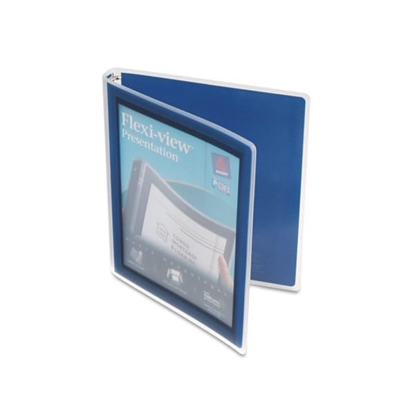 Avery Navy Flexi-View 0.5-inch Capacity Presentation View Binders (Pack of 4)