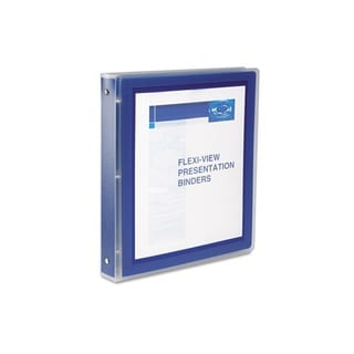 Avery Navy Flexi-View 1-inch Capacity Presentation View Binders (Pack Of 12)