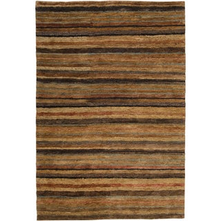 Handwoven Caballero Tan Natural Fiber Hemp Rug (2' x 3')