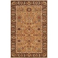 Hand-tufted Laspezia Camel Semi-Worsted New Zealand Wool Rug (2' x 3')