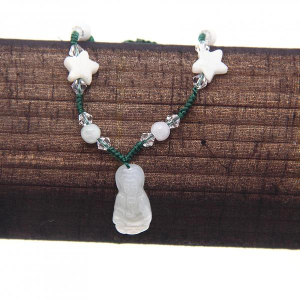 Jade Bracelet with Buddha Charm (China)