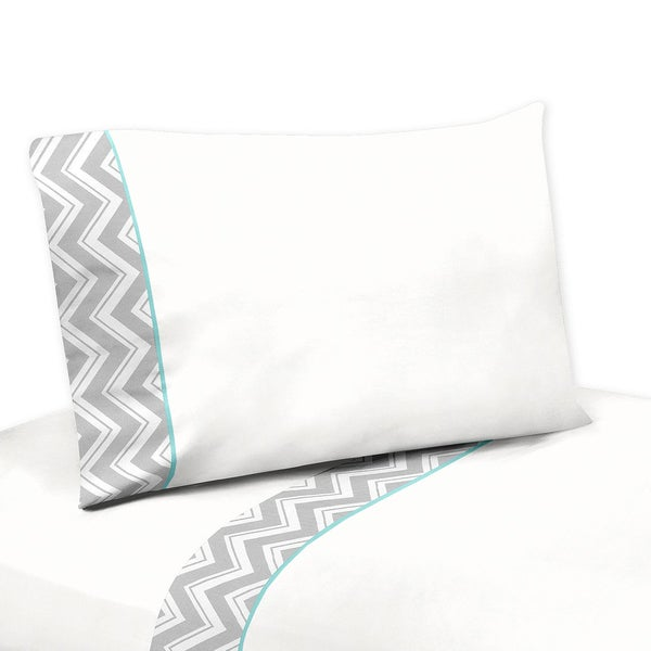 Sweet JoJo Designs 200 TC Grey and White Zig Zag Diamond Sheet Set