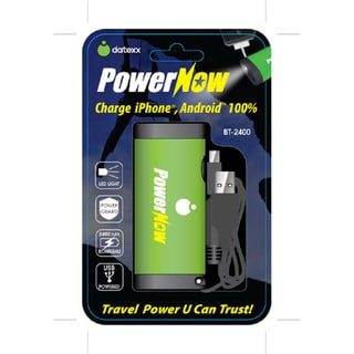 Datexx BT-2400 Rechargeable PowerNow (Green)