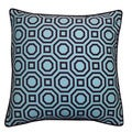 Jiti Pillows Labyrinth Blue 20-inch Decorative Pillow