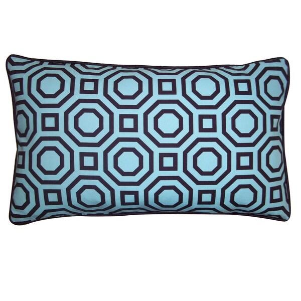 Jiti Labyrinth Blue 12x20-inch Decorative Pillow