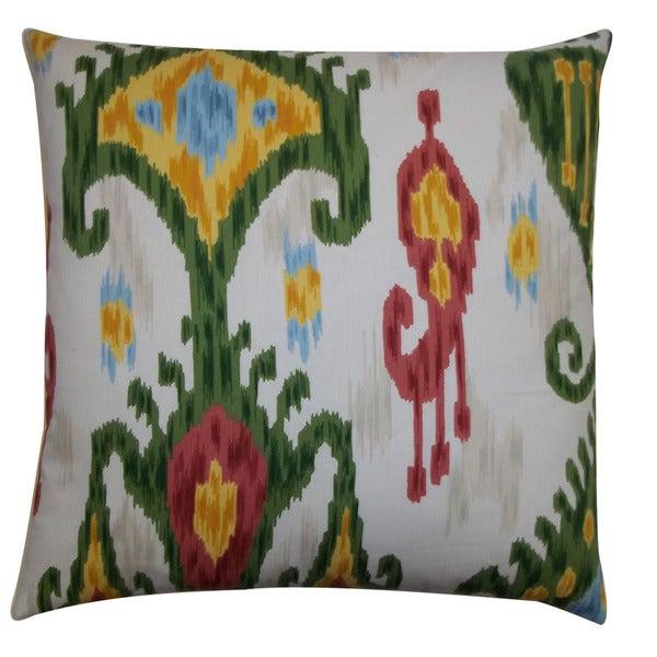 Jiti Labyrinth White 20-inch Decorative Pillow