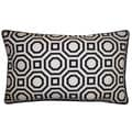 Jiti Pillows Labyrinth White 12x20-inch Decorative Pillow