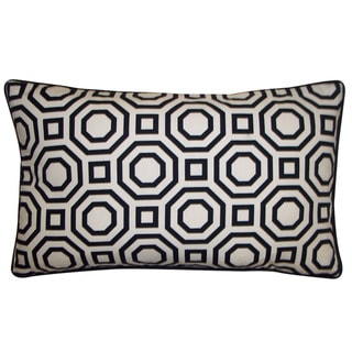 Jiti Labyrinth White 12x20-inch Decorative Pillow