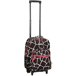 Rockland Designer Print 17-inch Rolling Carry-on Upright Backpack