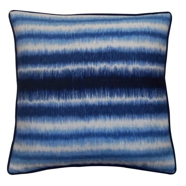Jiti Static Blue 20-inch Decorative Pillow