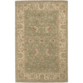 Hand-knotted Boxter Tan Wool Rug (2' x 3')