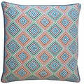 Jiti Pillows 'Squares' Blue 20-inch Pillow