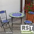 RST Outdoor Ceramic Tile Bistro 3-piece Set
