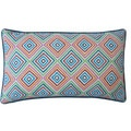 Jiti 'Square' Blue 12-inch x 20-inch Pillow