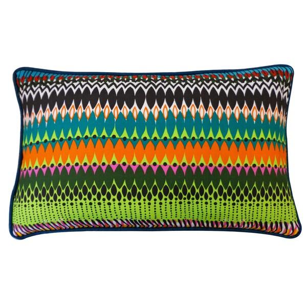 Jiti 'Fire' Multicolored 12-inch x 20-inch Pillows
