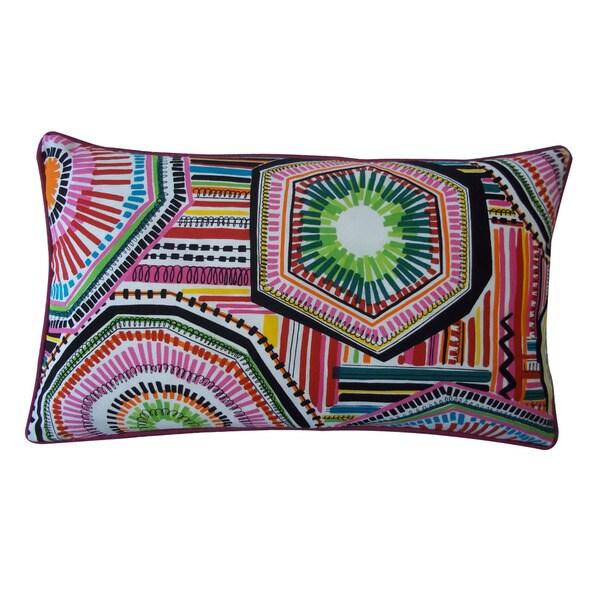 Jiti 'Native' 12-Inch x 20-Inch Rectangular Multicolored Pillow