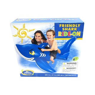 Intex Friendly Shark Ride-On Inflatable Pool Toy